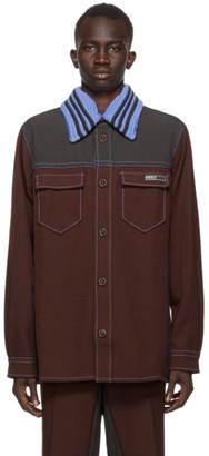 Wales Bonner Burgundy and Black adidas Originals Edition Rock Jacket