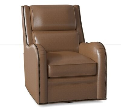 """Thumbnail for your product : Bradington-Young Stellan 30"""" Wide Standard Recliner Body Fabric: Triomphe Umber, Nailhead Detail: No Nailhead, Motion Type: Power Button"""