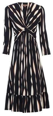 Dorothy Perkins Womens *Jolie Moi Multi Coloured Wave Knot Front Skater Dress