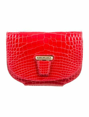 Hermes Alligator Mini Convoyeur Bag gold