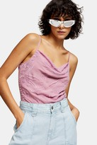 Topshop Womens Idol Pink Embroidered Cami Top - Pink