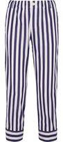 J.Crew + Thomas Mason Andy Cropped Striped Cotton Straight-Leg Pants