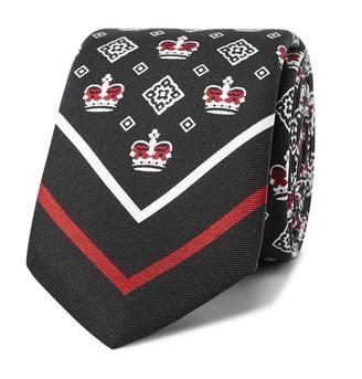 Dolce & Gabbana 7cm Printed Silk-Twill Tie