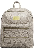 The Honest Company Infant 'City' Faux Leather Diaper Backpack - Grey