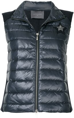 Lorena Antoniazzi Logo Patch Padded Gilet