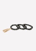 Bebe Black Bead Bracelet Set