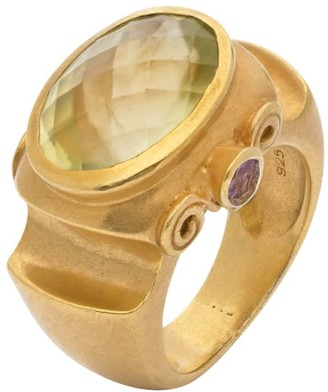 Jaipur Antique Lemon Quartz Ring
