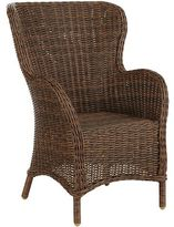 Pier 1 Imports Capella Island Walnut Brown Dining Armchair