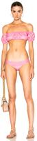 Lisa Marie Fernandez Leandra Striped Bikini in Pink.