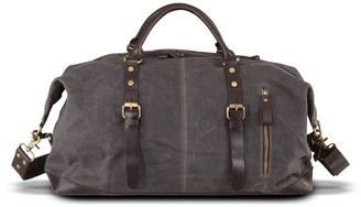 Touri Zip Detail Water Repellent Holdall In Iron Grey