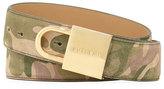 Buscemi Camouflage-Print Lock-Buckle Leather Belt