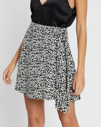 Whistles Petal Print Flippy Skirt