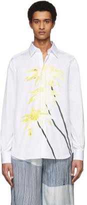 Loewe White Daisy Print Shirt