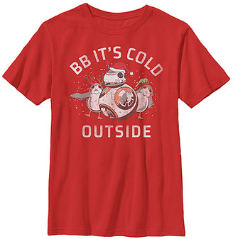 Fifth Sun Boys' Tee Shirts RED - Red & White 'BB It's Cold Outside' Crewneck Tee - Boys