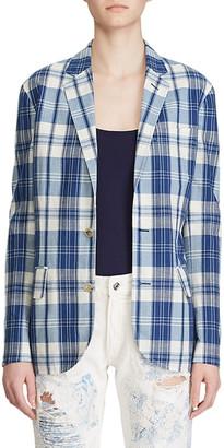 Ralph Lauren Collection Ruthie Plaid Cotton Blazer Jacket