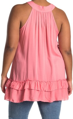 Forgotten Grace Double Ruffle Lace Tank Tunic