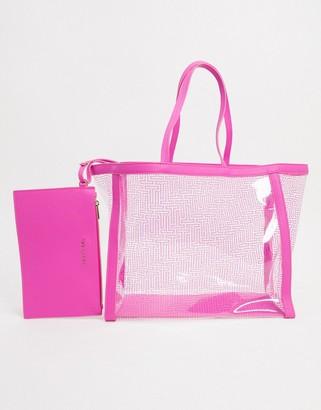 Ted Baker nicoley neon shopper in pink