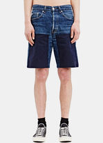 Schmidttakahashi Men's Jeans Patch Shorts From Ss15 In Blue