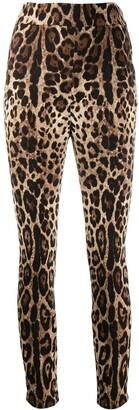 Dolce & Gabbana leopard print cropped trousers