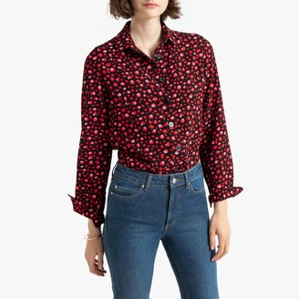 La Redoute Collections Long-Sleeved Leopard Print Shirt