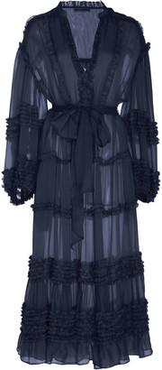 Ulla Johnson Althea Ruffled Silk-Chiffon Midi Dress