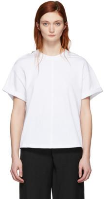 3.1 Phillip Lim White Shoulder Slit T-Shirt