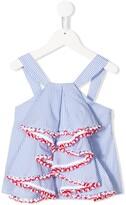 Stella Jean Kids striped ruffle front camisole