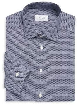 Eton Contemporary-Fit Printed Cotton Dress Shirt