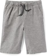 Old Navy Straight Heathered-Twill Jogger Shorts for Boys