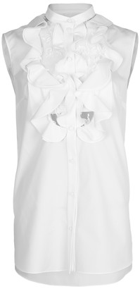 Alexander McQueen Sleeveless Lace Bib Shirt