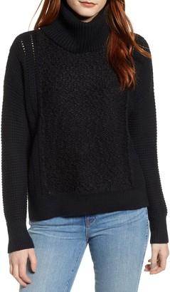 Caslon Cowl Neck Boucle Sweater (Regular & Petite)