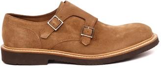 Eleventy Camel Color Suede Shoes