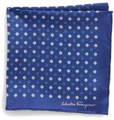 Salvatore Ferragamo Edison Medallion Silk Pocket Square