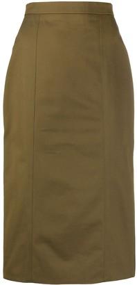 Alexander McQueen High-Waist Midi Skirt