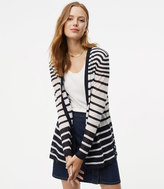 LOFT Horizon Striped Open Cardigan