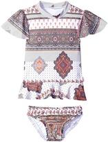Seafolly Moroccan Paisley Rashie Set Girl's Swimwear Sets