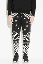 Forever 21 FOREVER 21+ L.A.T.H.C. Dark Geometry Sweats