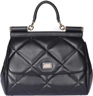Dolce & Gabbana Medium Sicily Quilted Top Handle Bag