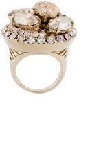 Versace crystal Medusa ring