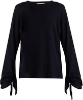 Tibi Tie-sleeve wool sweater