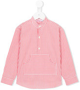 Amaia - kangaroo pocket striped shirt - kids - Cotton - 4 yrs
