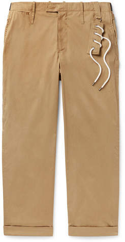 Craig Green Wide-Leg Cotton-Blend Twill Trousers - Men - Beige