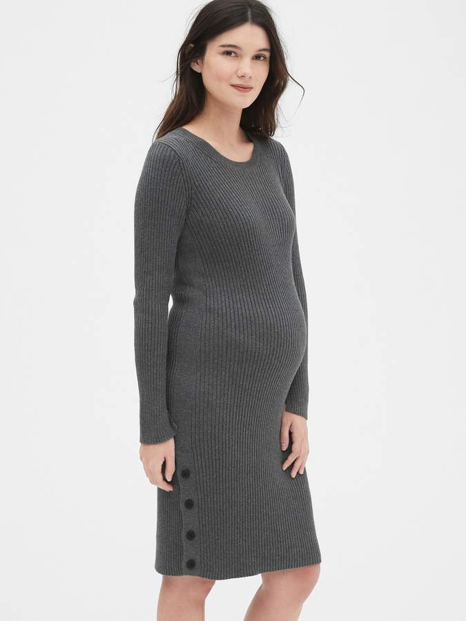 b30cf35a8b29c Charcoal Maternity Dress - ShopStyle