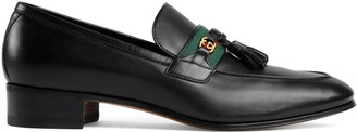 Gucci Men's loafer with Web and InterlockingG