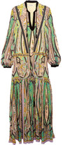 Etro Printed Silk Maxi Dress - Green