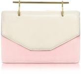 M2Malletier Indre Ivory Leather & Blush Suede Crossbody Bag