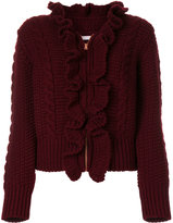 See by Chloe ruffled zip-up cardigan