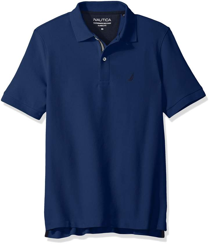 Nautica Men's Standard Classic Short Sleeve Solid Polo Shirt