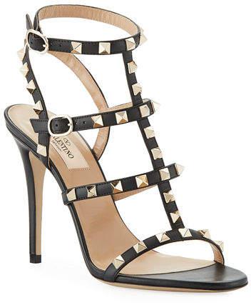 Valentino Rockstud 105mm Caged Leather Sandal