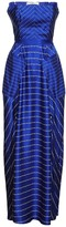 Jiri Kalfar Long Navy-Blue & White Stripe Dress With Slits